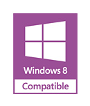 Windows® 8 and Windows® 7 compatible