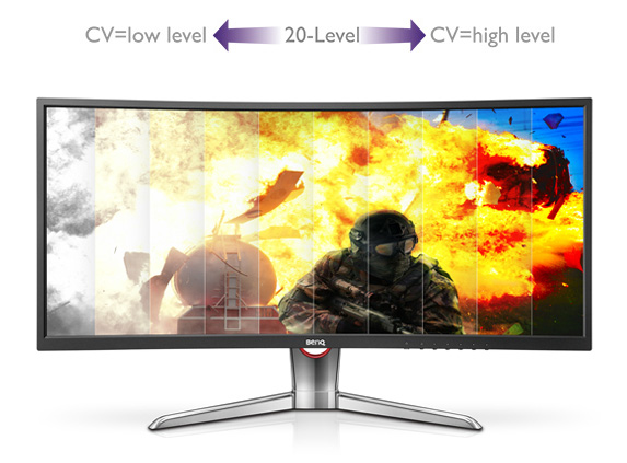Optimize Gaming Precision With 20-Level Color Vibrance Setting